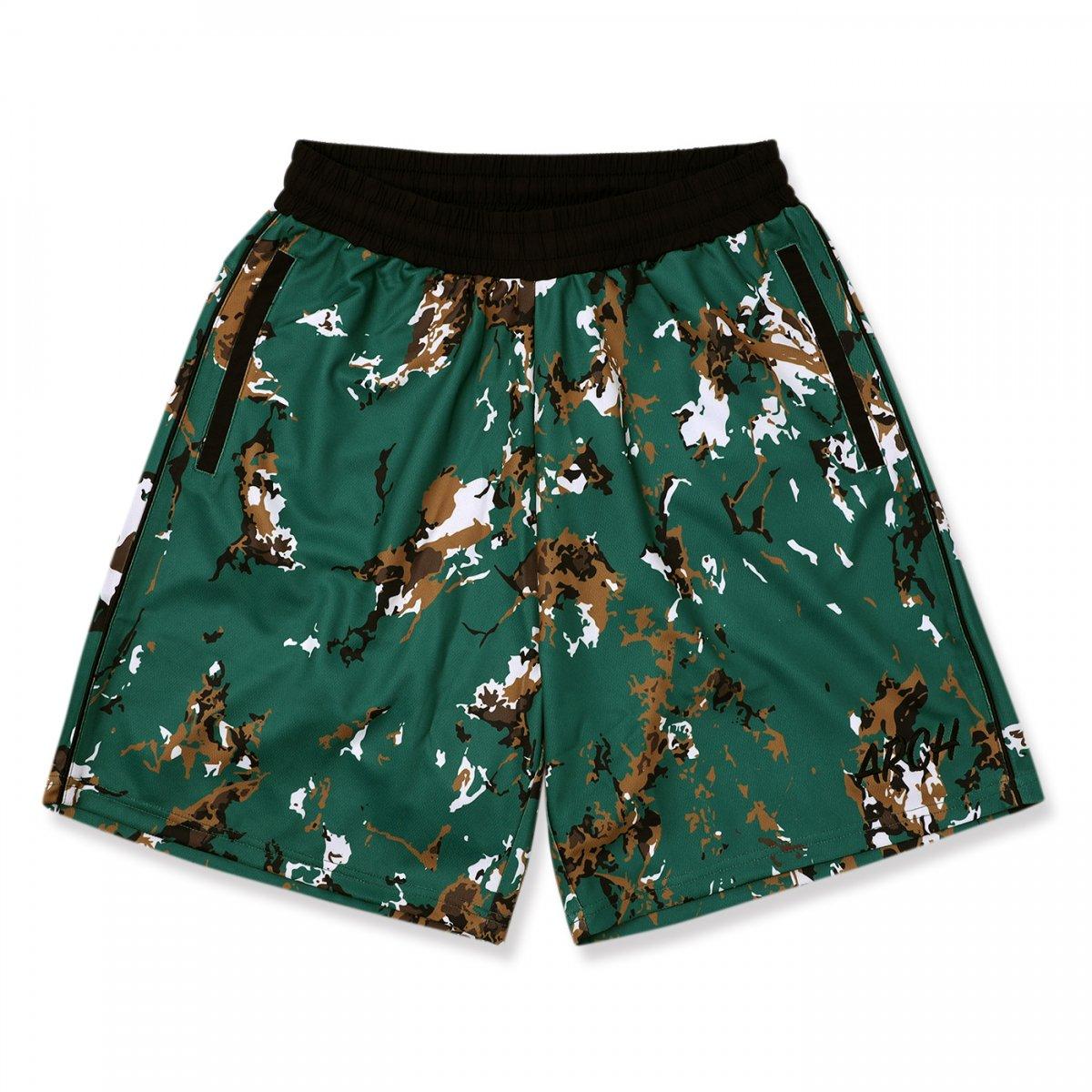 marbling shorts 【green】