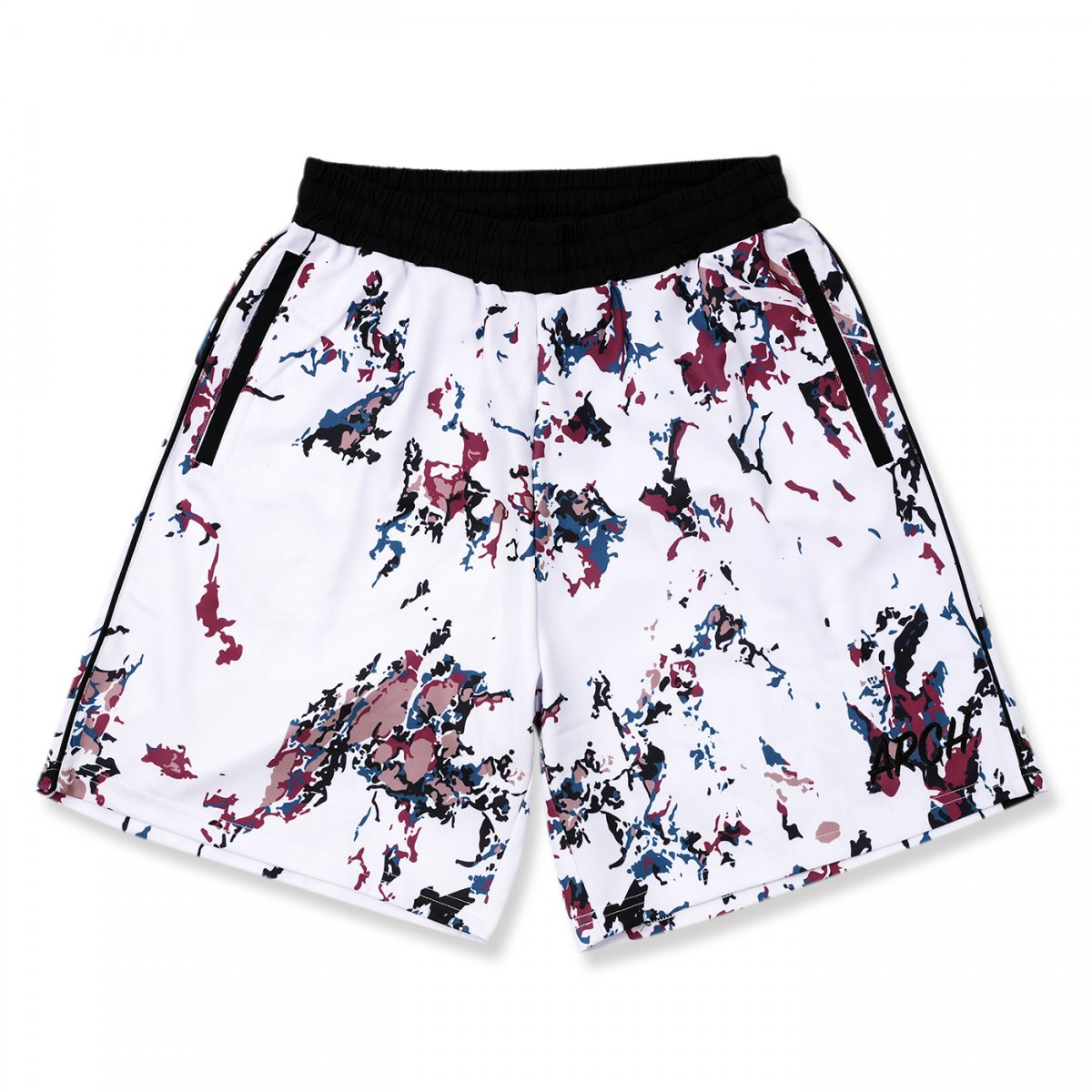 marbling shorts 【white】