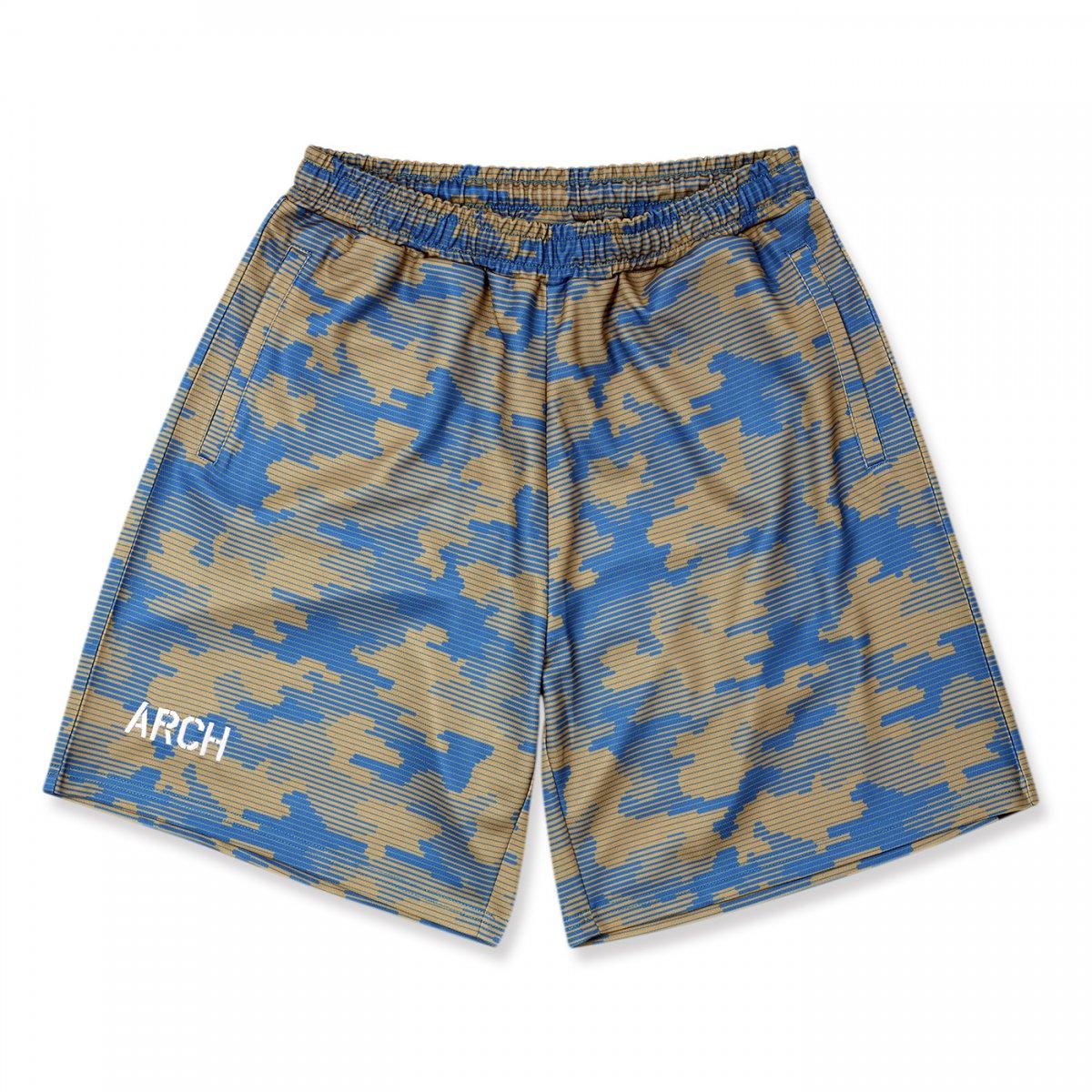 line camo shorts 【blue】