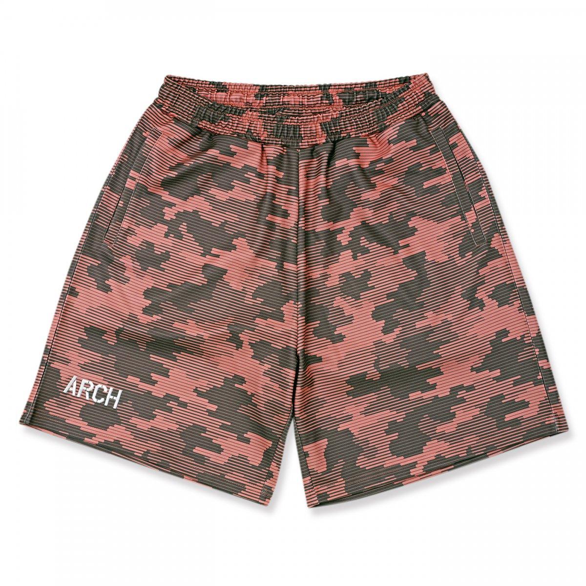 line camo shorts 【smoke pink】