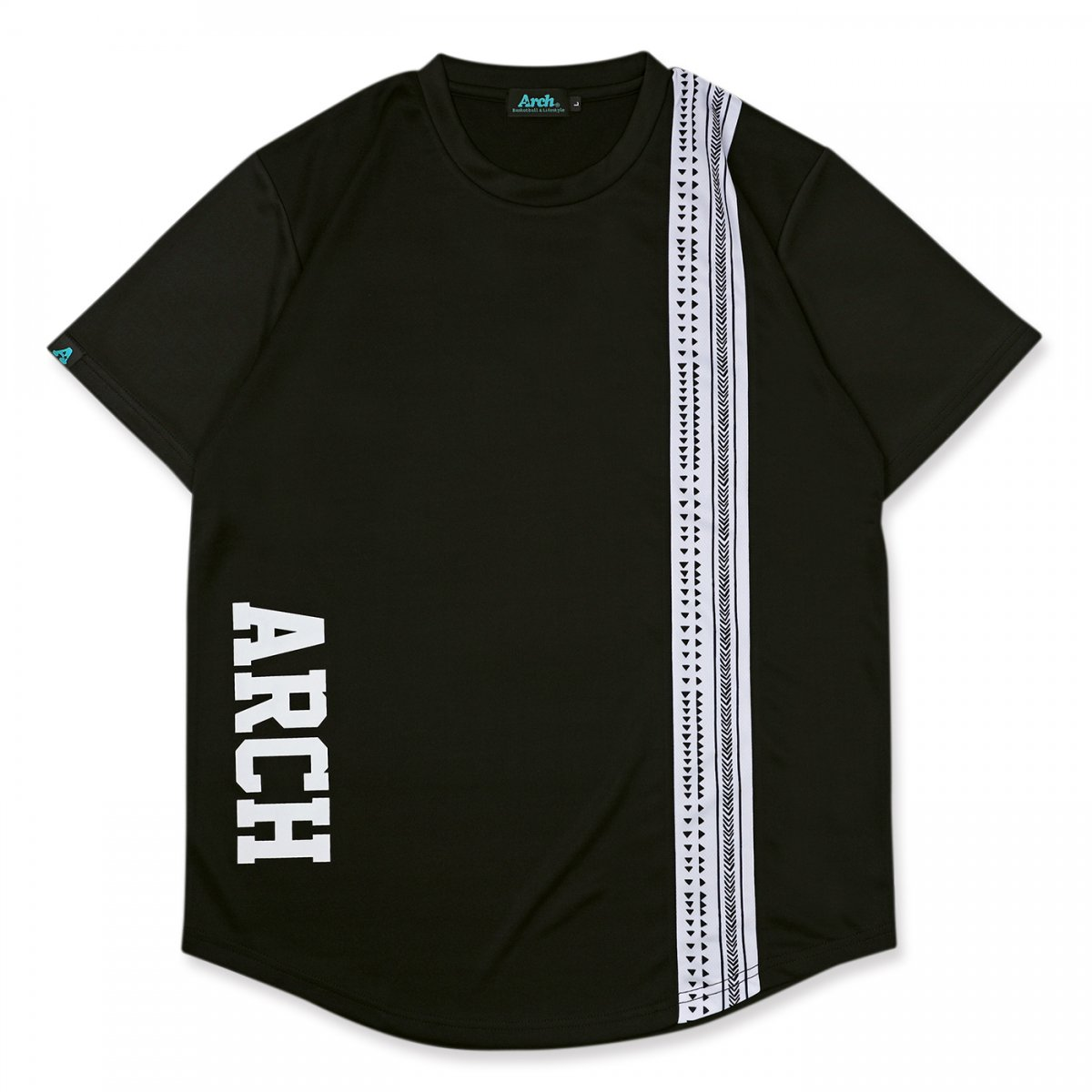 rough stripe tee [DRY]【black】