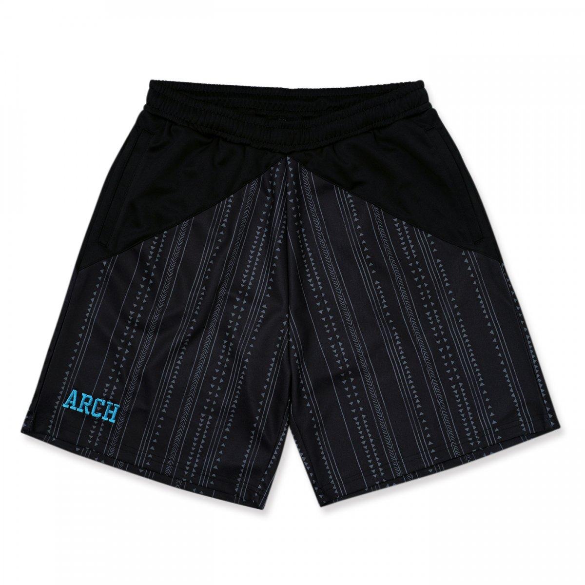 rough stripe shorts 【black】