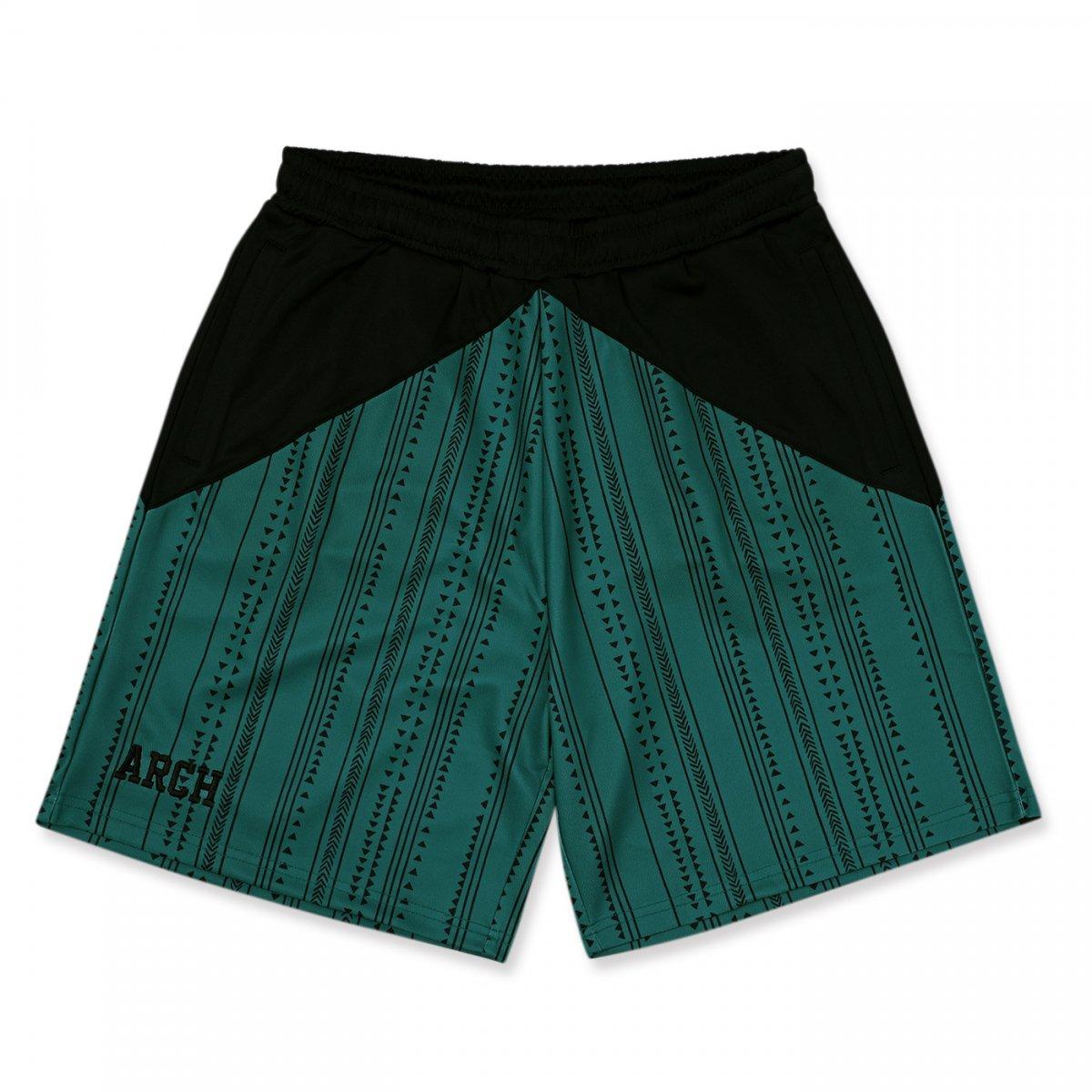 rough stripe shorts 【teal】