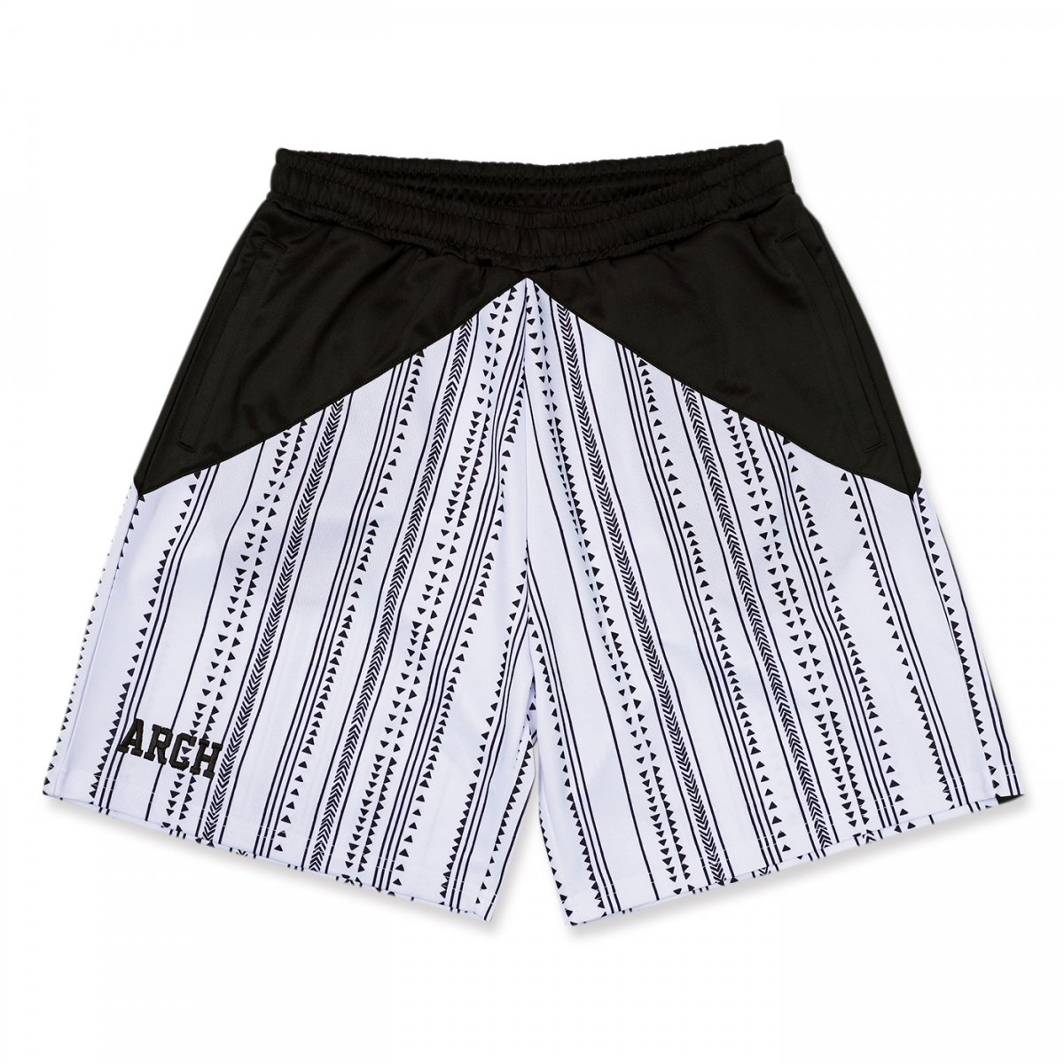 rough stripe shorts 【white】