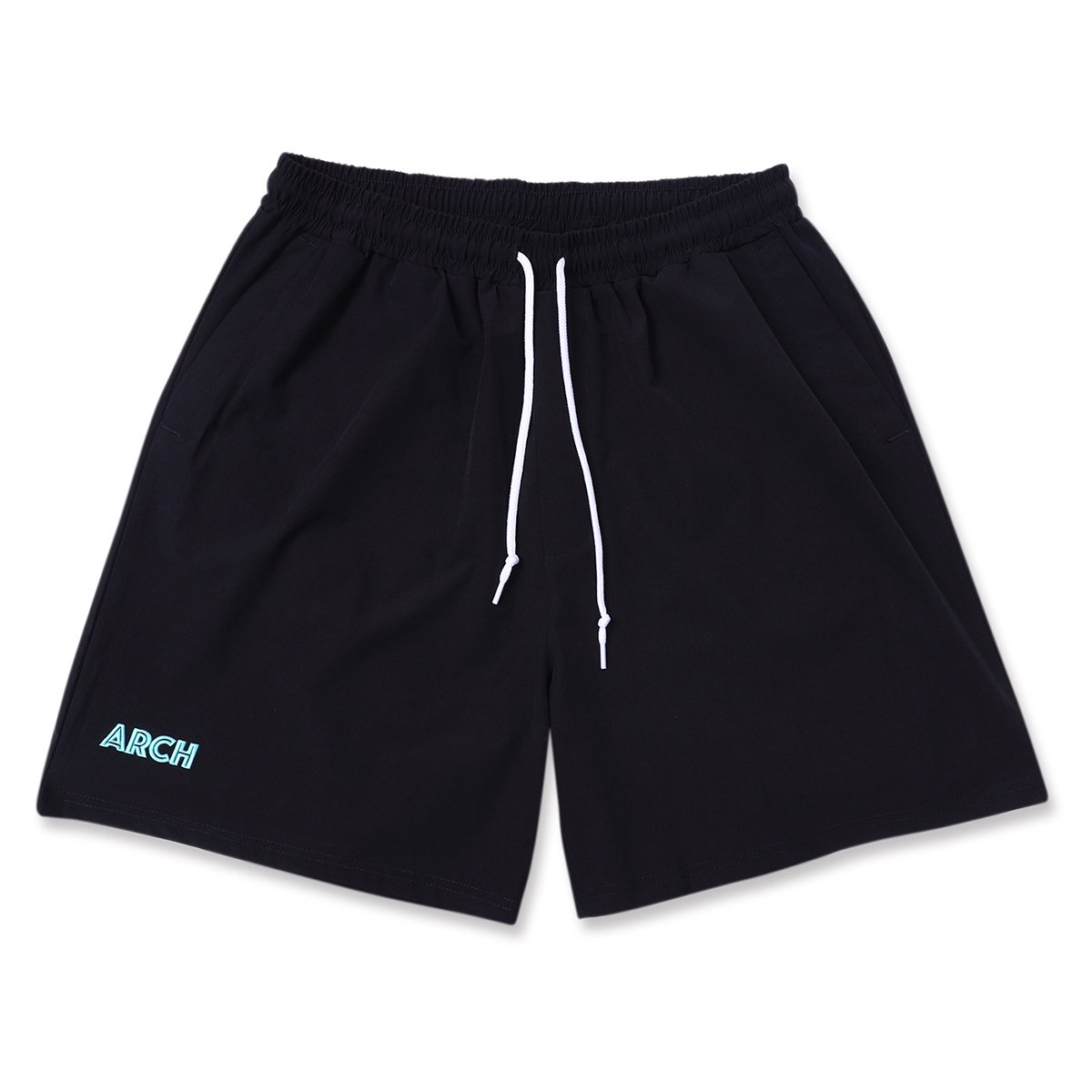 stretch nylon short pants 【black/mint】