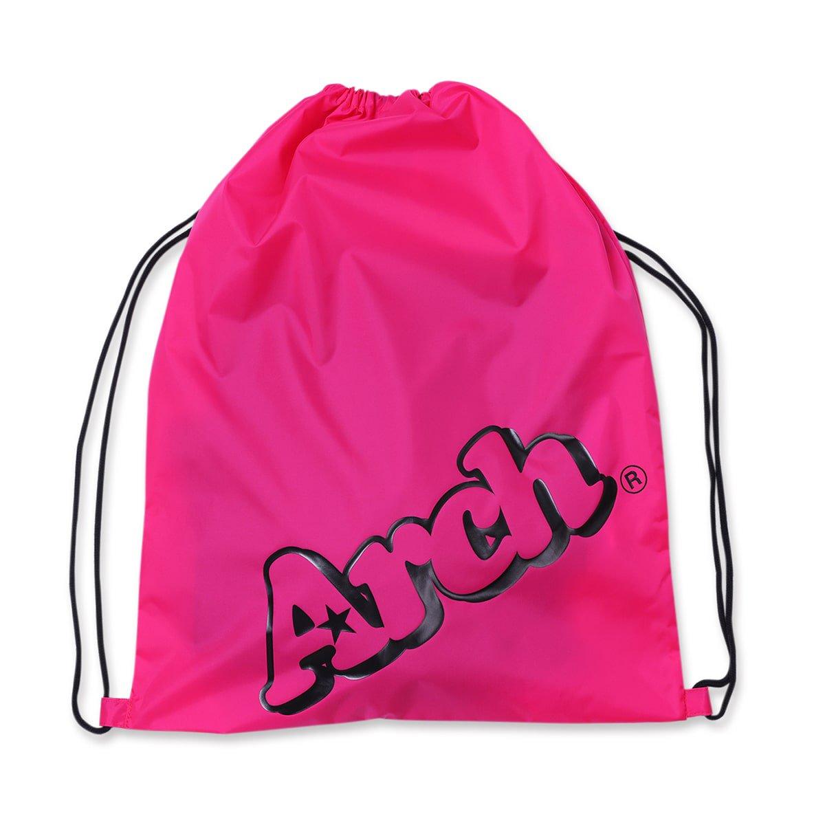 sloping logo gym sack【pink/black】