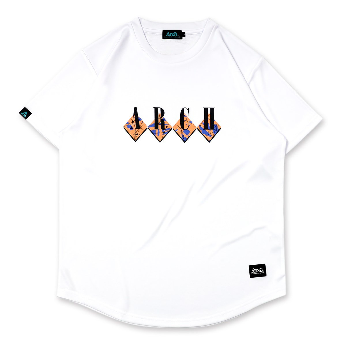 scribble tee [DRY]【white/apricot】