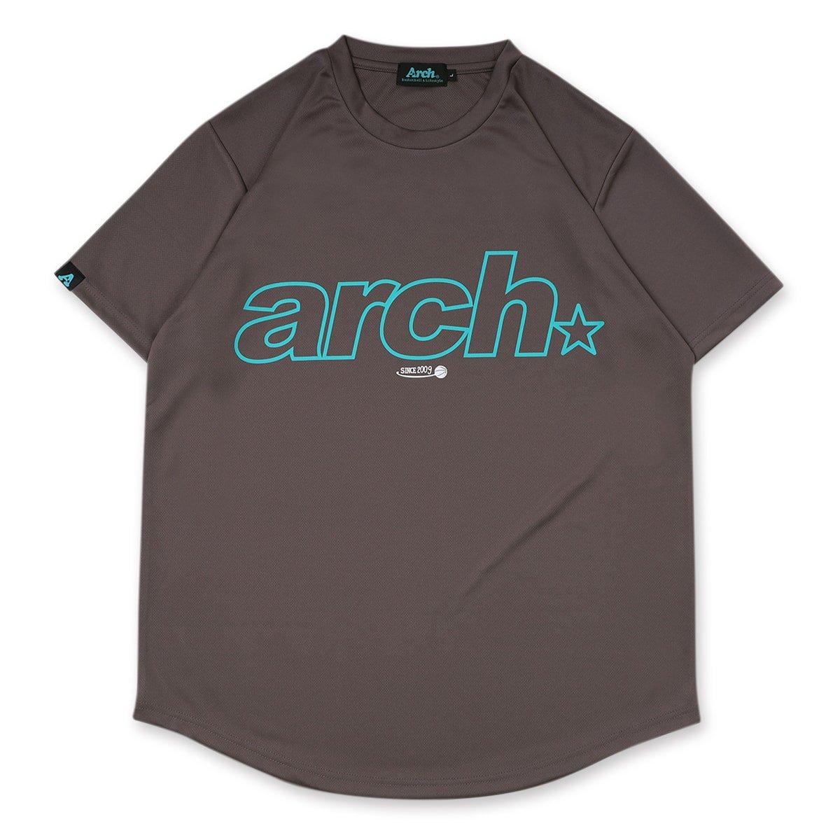 バスケ アーチ スポーティーロゴ09 Tシャツ チャコール