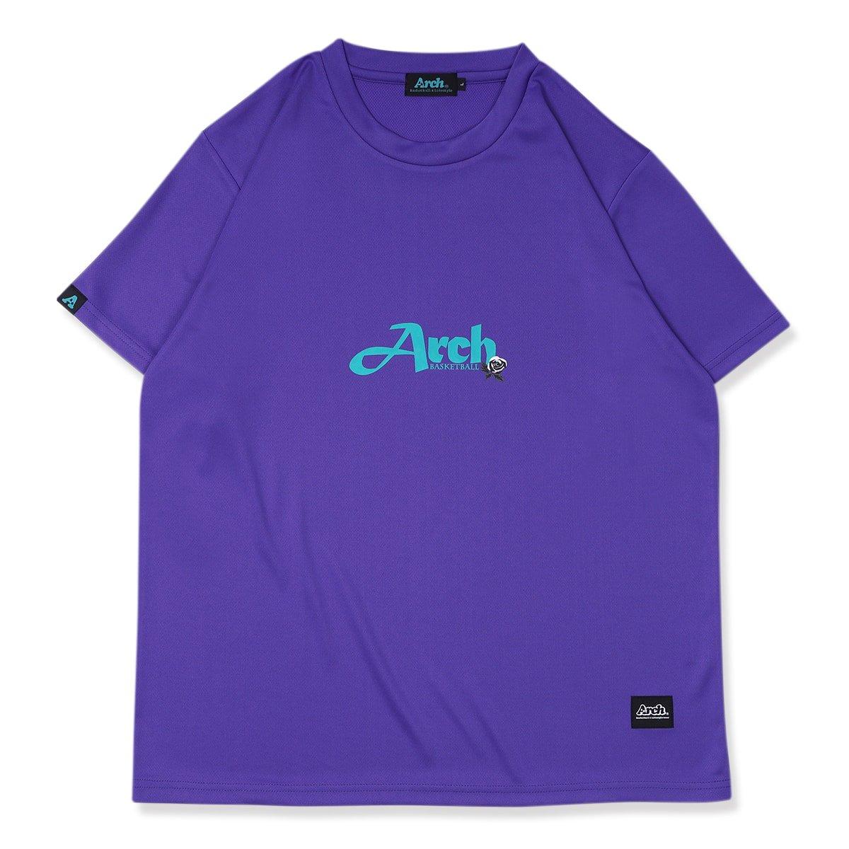 one rose tee [DRY]【purple】