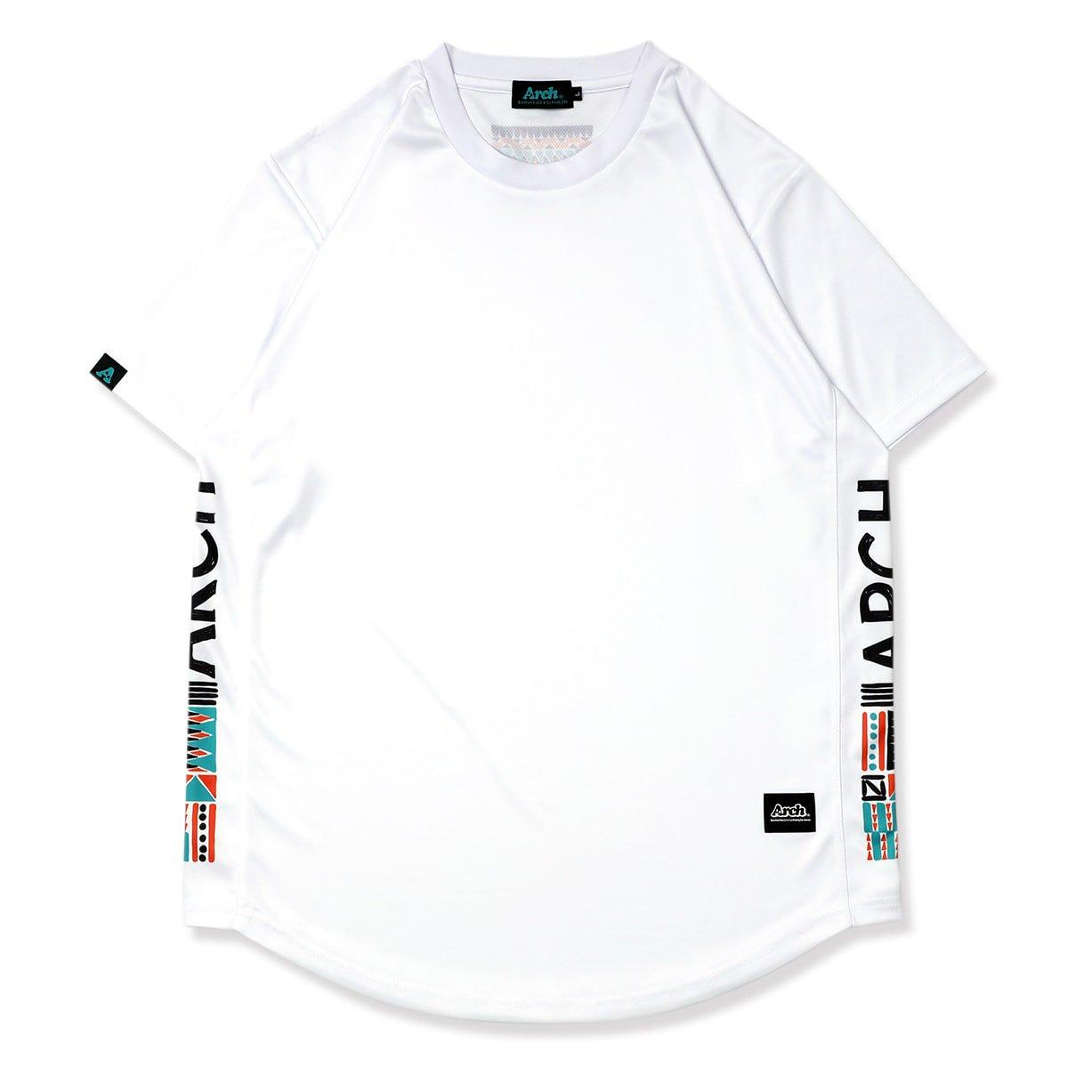 tribal paint tee [DRY]【white】