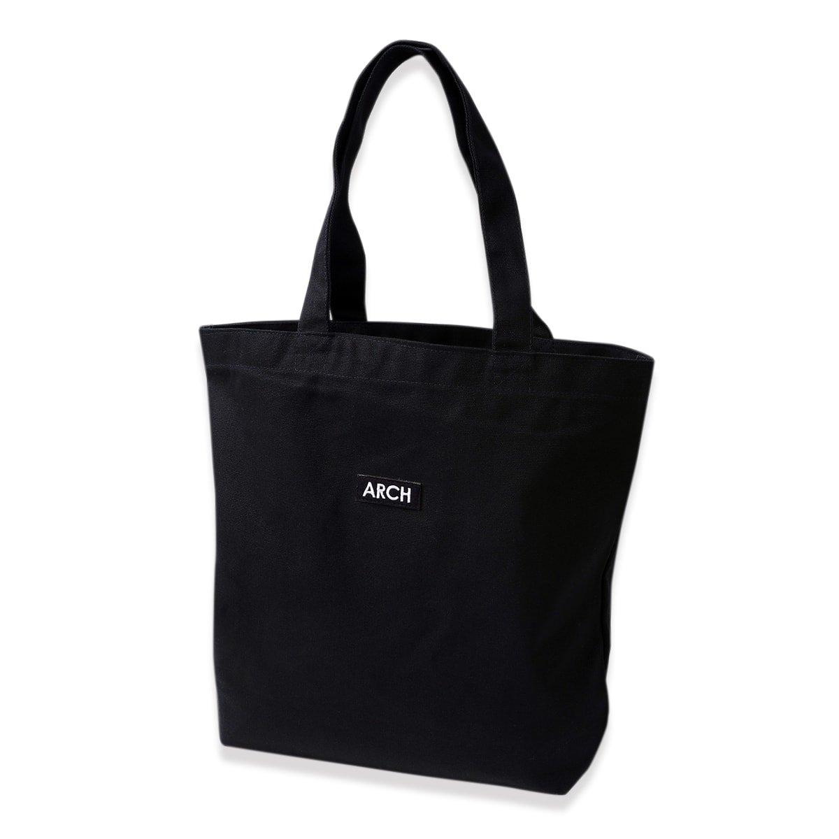 patched tote bag[medium]【black】