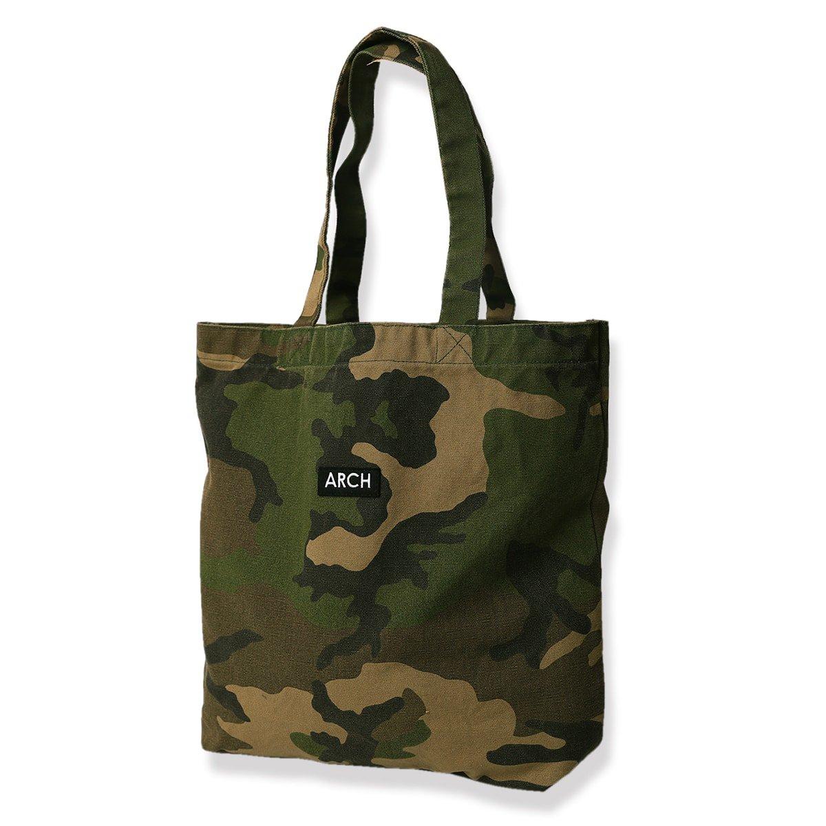 patched tote bag[medium]【camo】