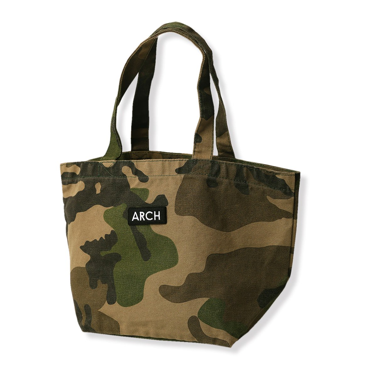 patched tote bag[small]【camo】