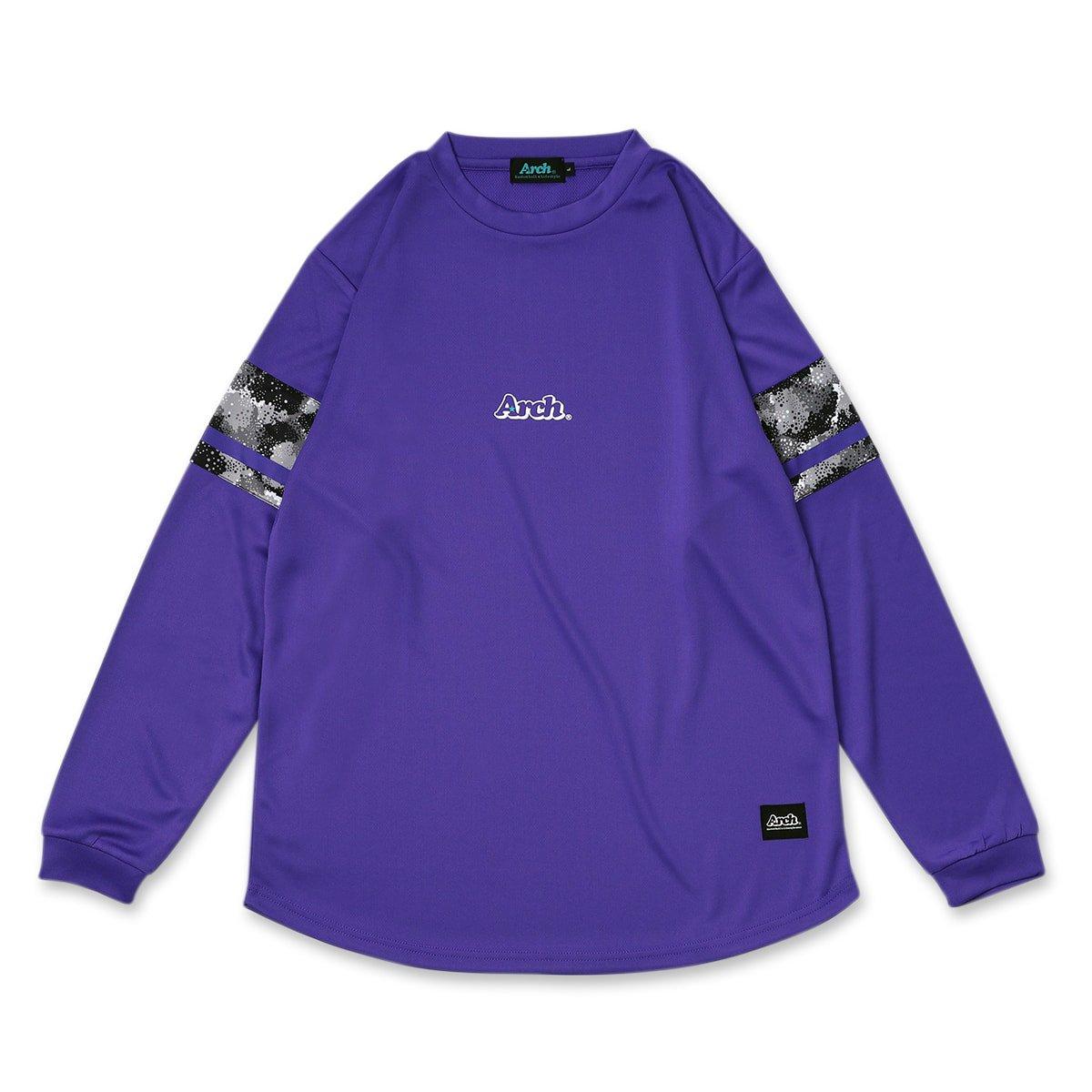 スリーブスプレーカモ L/S Tシャツ パープル