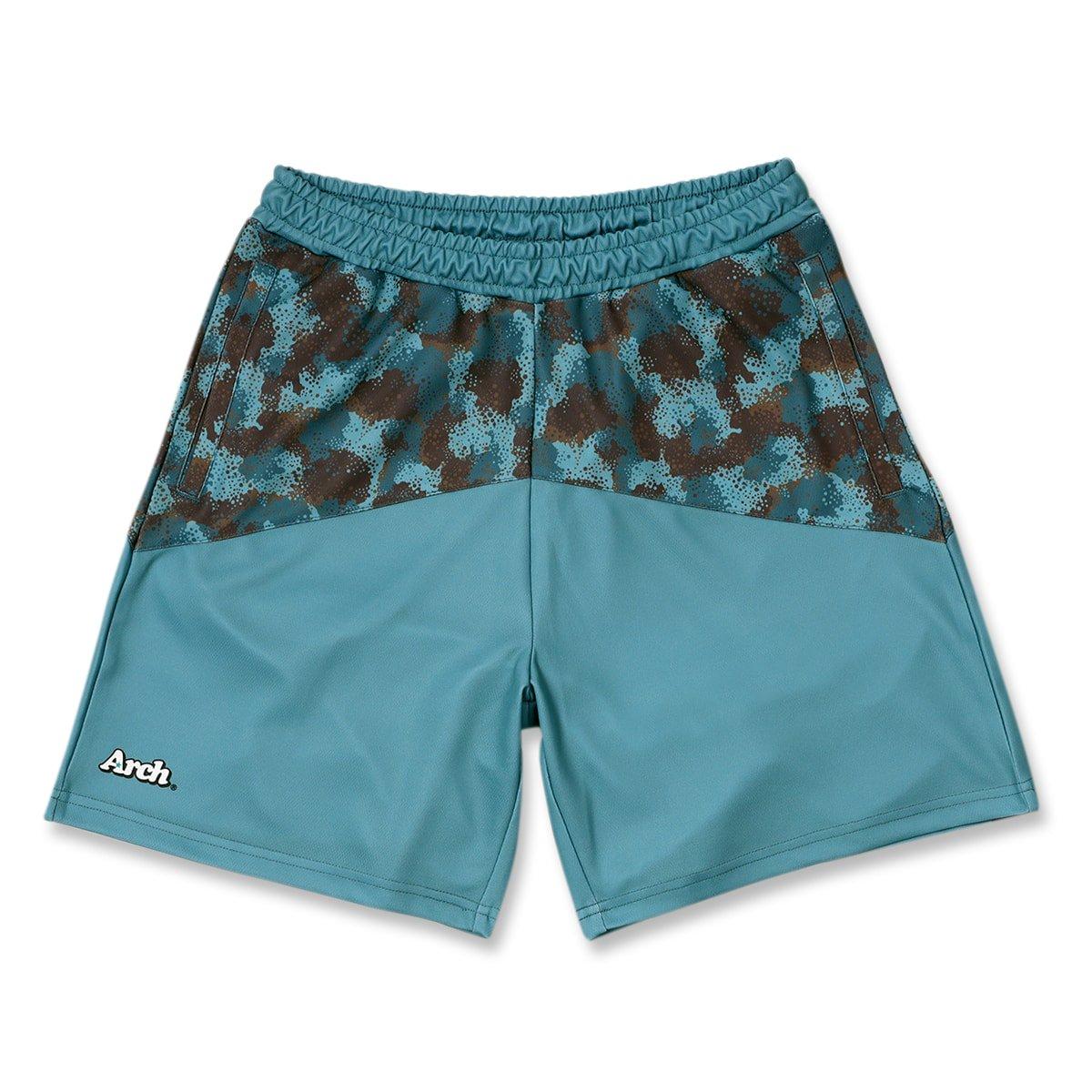 spray camo shorts【nile blue】