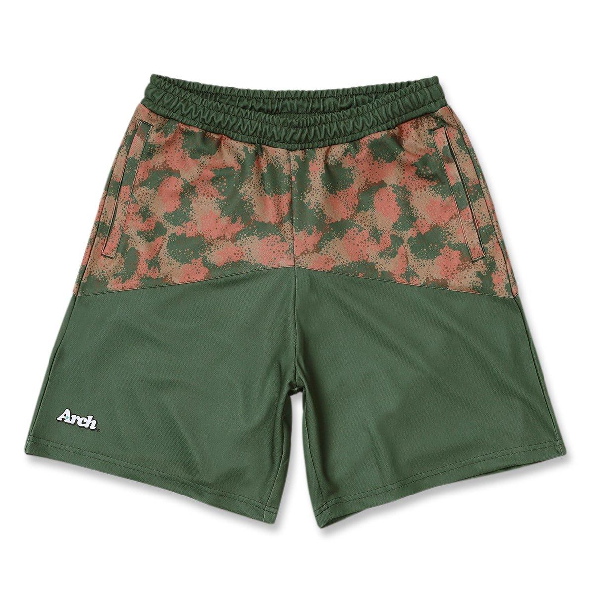 spray camo shorts【loden green】