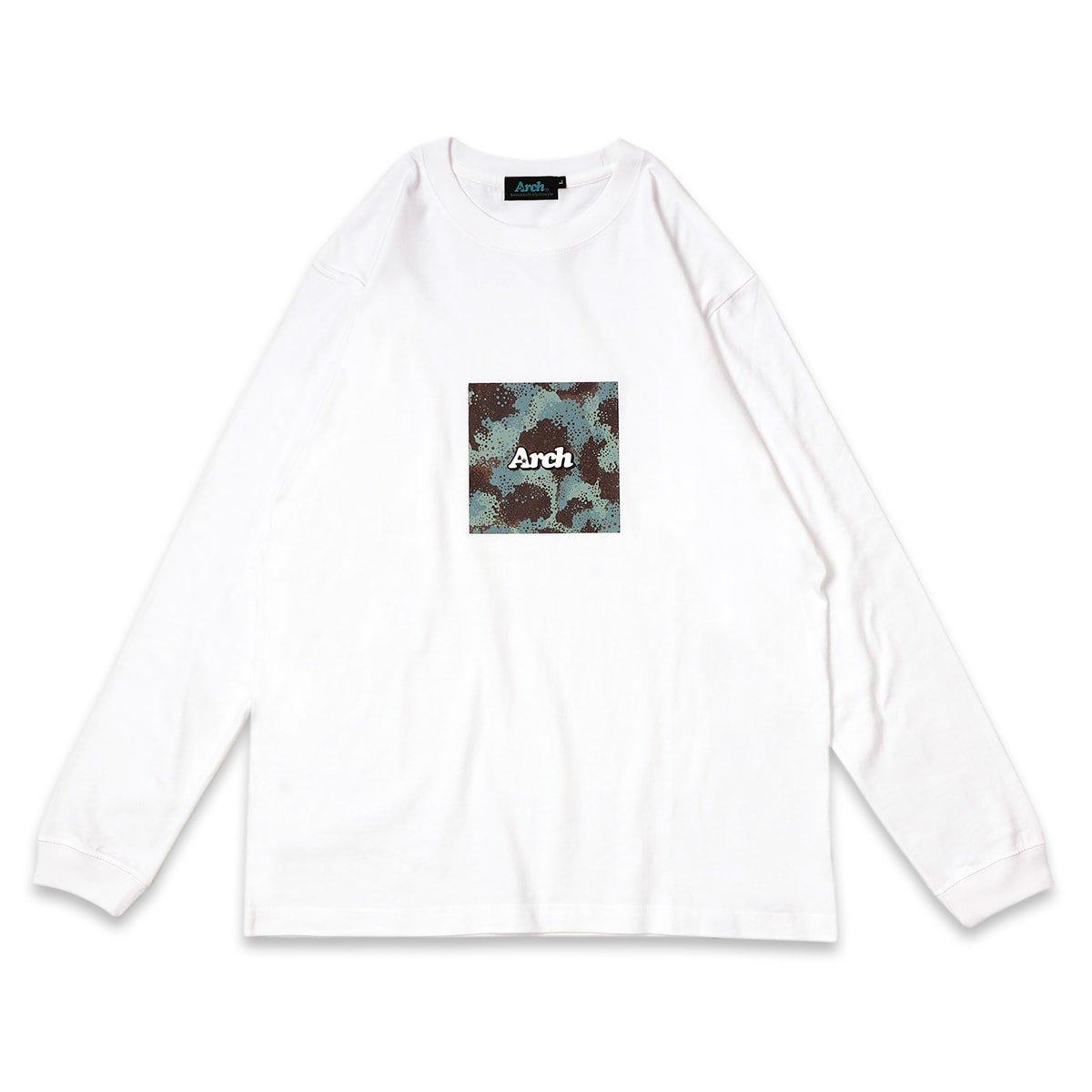 spray camo box logo L/S tee【white】