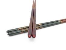 三角箸 菊づくし 緑/朱 【食洗器対応】