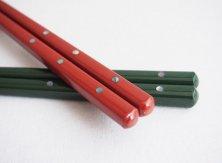 貝点紋 緑/赤
