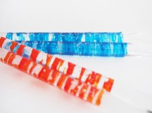 アクリルねじり箸 acrylic spiral -blue/orange-