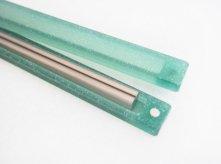 frost acrylic -titanium oval用 箸箱-
