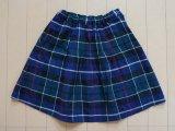 ファミリア familiar■120cm スカート チェック 青 緑 紺 春 秋 ★3 本体価格2480円
