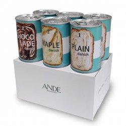 デニッシュ缶 3種(プレーン・メープル・ショコラーデ)各2個 6缶セット