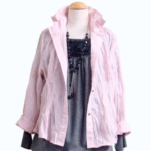 シャツジャケット(長袖/ピンク/M~L)