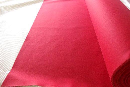 羅紗(ラシャ) 赤色 2mm厚 1500mm巾