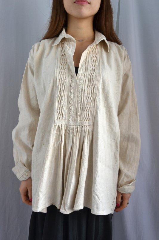 1930's Hungary vintage linen tunic blouse