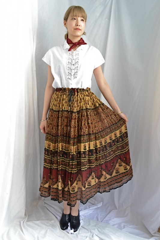 India cotton vintage skirt