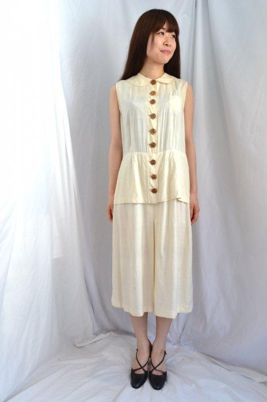 1940-50's vintage raw silk dress
