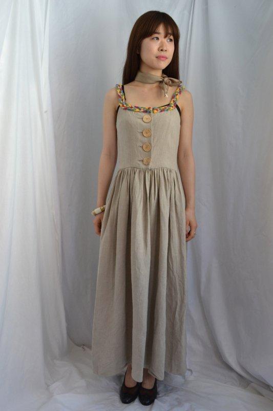 Vintage linen tyrol long dress