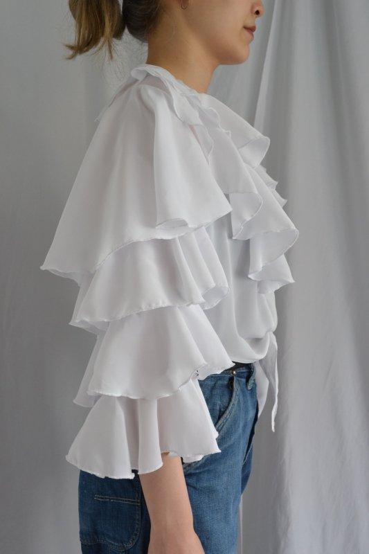 vintage tiered design blouse