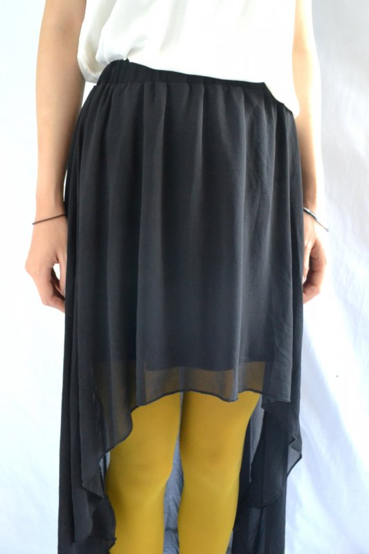 Vintage black see‐through design skirt