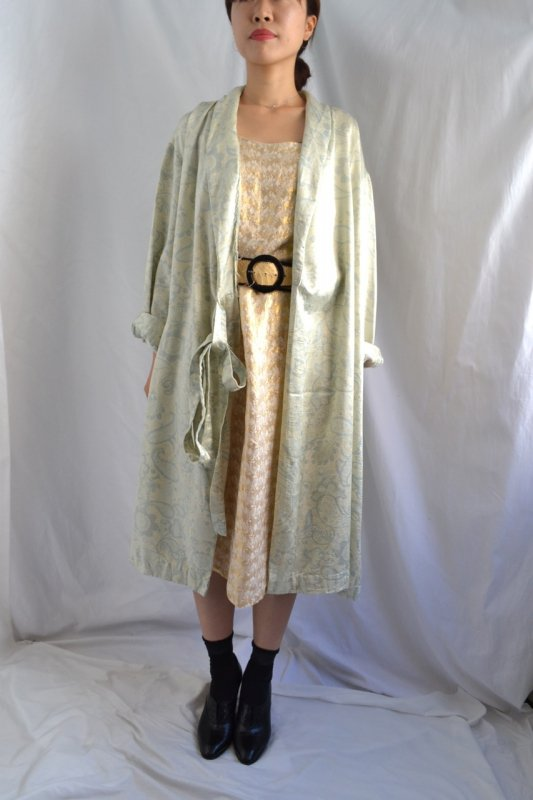 Vintage light blue paisley pattern night gown