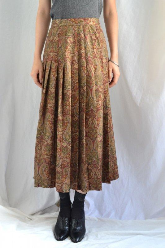 <img class='new_mark_img1' src='https://lara-vintage.shop-pro.jp/img/new/icons50.gif' style='border:none;display:inline;margin:0px;padding:0px;width:auto;' />Vintage paisley pattern pleats skirt