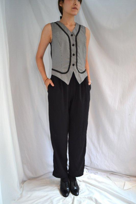 Vintage gilet design  jump suit