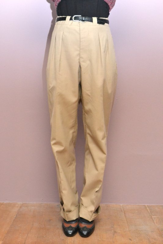 <img class='new_mark_img1' src='https://img.shop-pro.jp/img/new/icons8.gif' style='border:none;display:inline;margin:0px;padding:0px;width:auto;' />1970's France military beige wool pants