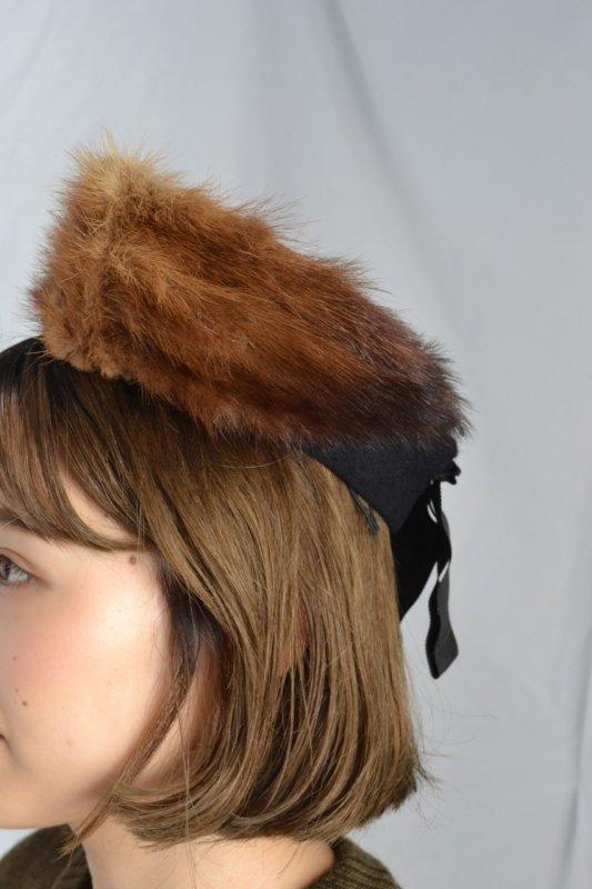 1950's vintage mink fur design head dress