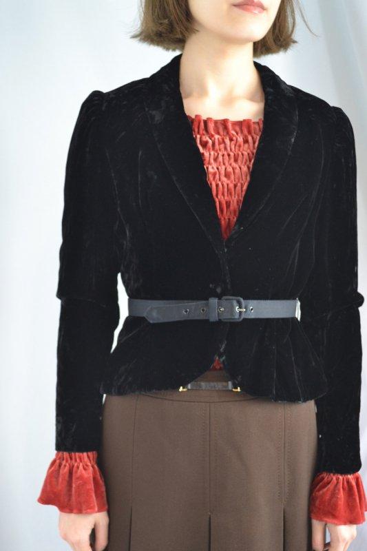 <img class='new_mark_img1' src='https://img.shop-pro.jp/img/new/icons50.gif' style='border:none;display:inline;margin:0px;padding:0px;width:auto;' />Vintage black velour jacket