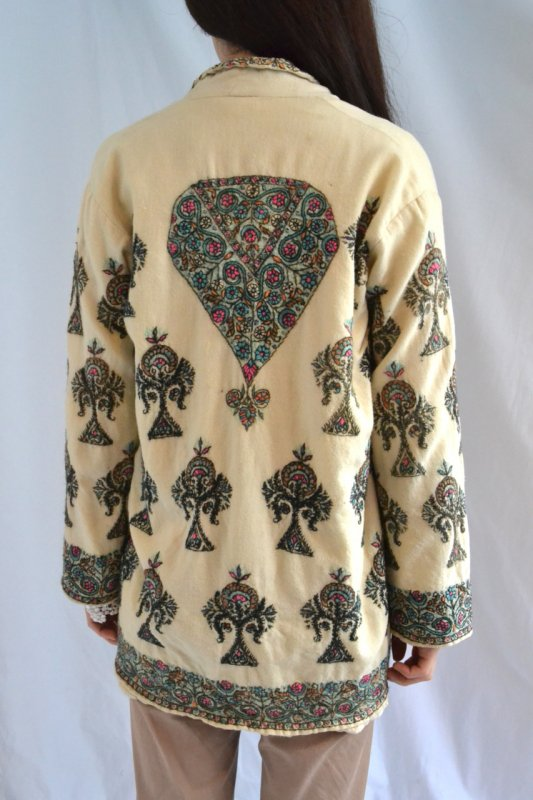1930's France vintage embroidery wool jacket
