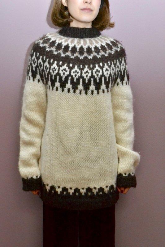 Fair isle vintage nordic knit