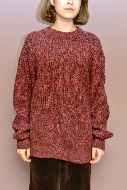 Vintage mix nep red purple sweater