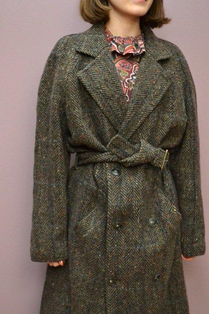 """MARCEL LASSANCE"" nep tweed vintage coat"