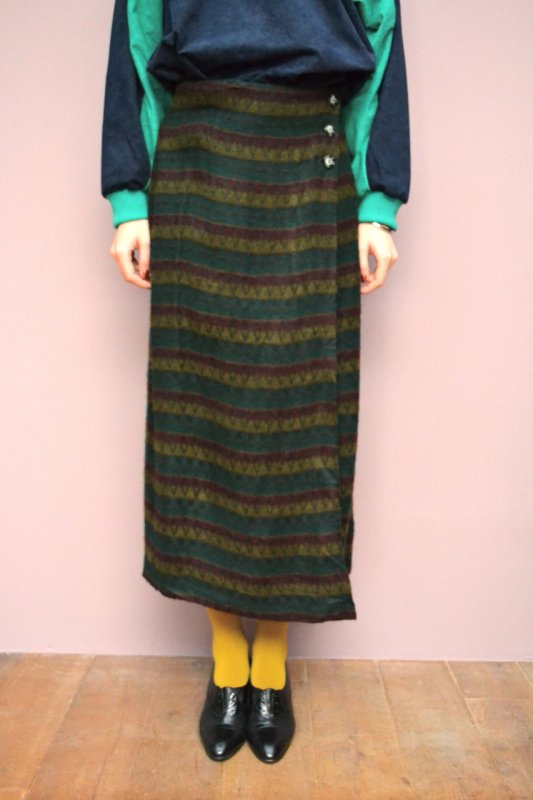 Vintage wool wrap skirt