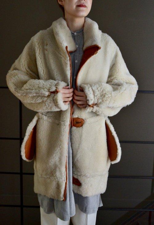 Vintage mouton leather coat