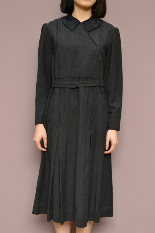 1940's-50's France vintage wool work dress