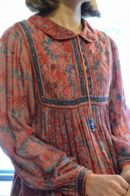 1970's vintage India cotton dress