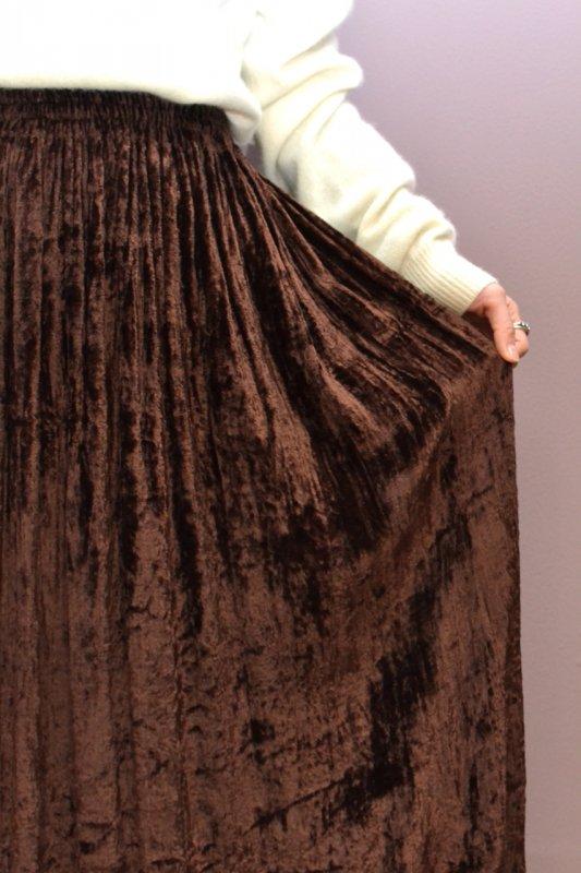 Vintage brown velour flare skirt